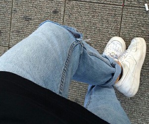 grunge, jeans, and nike image