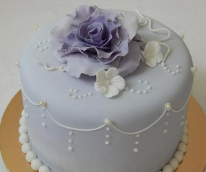 beauty, cake, and flores image