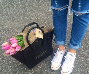 flowers and converse image