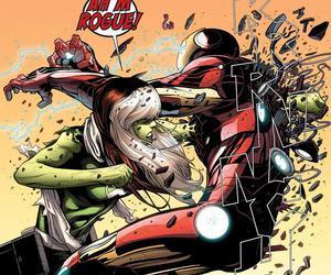 heroes, iron man, and Rogue image
