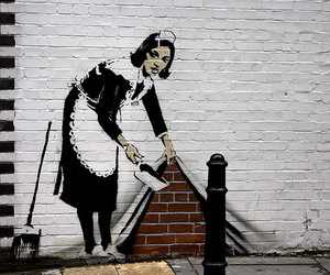 art, BANKSY, and graffiti image
