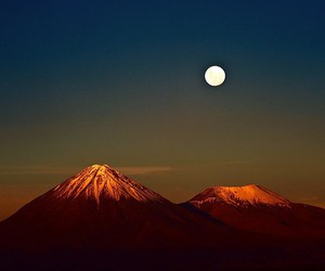 landscape, beautiful, and moon image