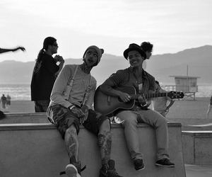 bruno mars, guitar, and travie mccoy image