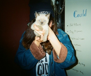 grunge, cat, and girl image