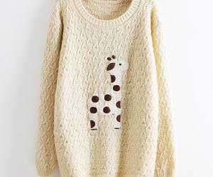 sweater, cute, and giraffe image