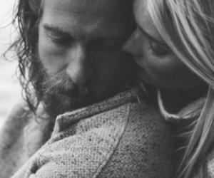 love, couple, and beard image