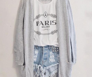 cardigan, paris, and grey image