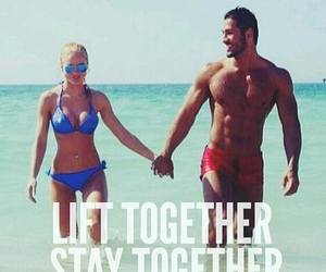 workout, love, and couple image