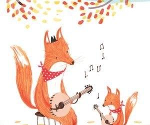 music, art, and fox image