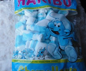 blue, marshmallow, and candy image