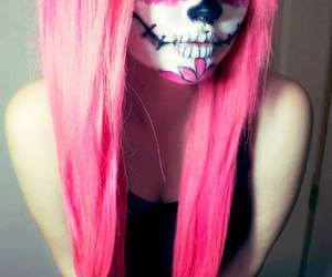 alt girl, dyed hair, and pink hair image
