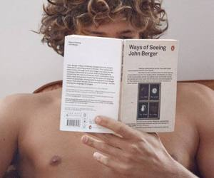 blonde, curls, and reading image