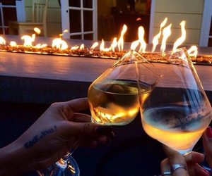 fire, couple, and luxury image