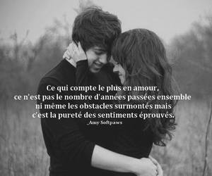 black and white, couple, and francais image