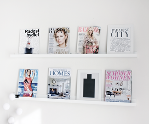 magazines, mywhiteobsession, and home image