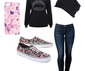 beautiful, flowers, and outfit image
