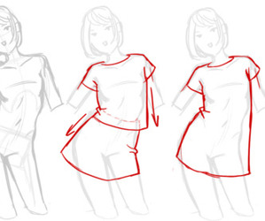 clothes, draw, and how to draw image