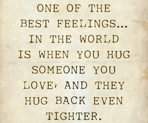 Best, hug, and quote image