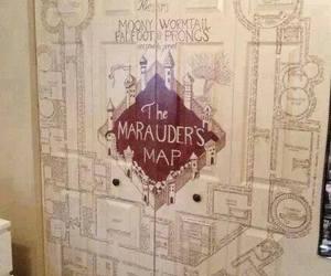 harry potter, marauders map, and door image