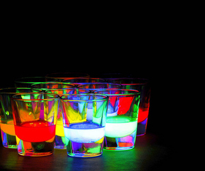 drink, party, and neon image