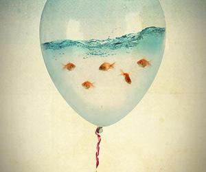 fish, water, and balloons image