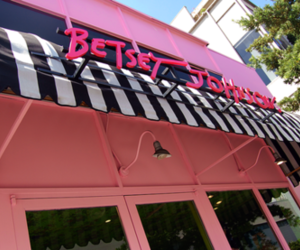 betsey johnson, stores, and pink image