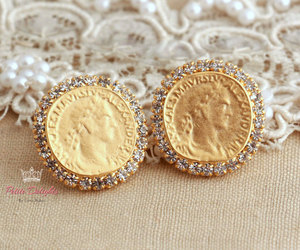 antique, earrings, and gift image