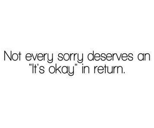 quotes, sorry, and okay image