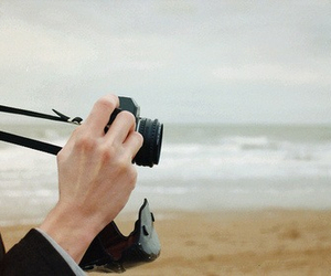 camera, beach, and photography image