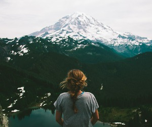 girl, summer, and wilderness image