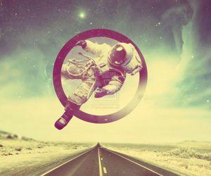 astronaut and stars image