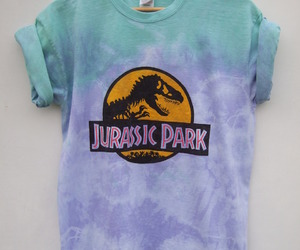 Jurassic Park, t shirt, and tie dye image
