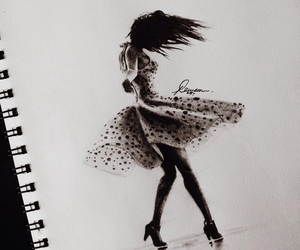 art, black and white, and dance image