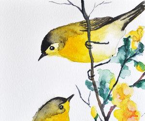 bird, yellow, and art image
