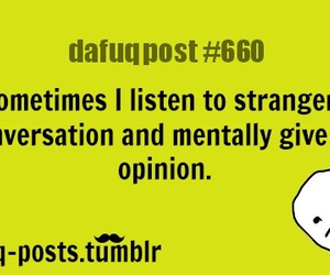 strangers, conversation, and funny image