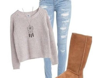 autumn, jeans, and sweater image