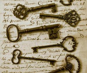key, vintage, and old image