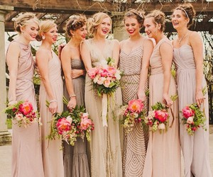 accessories, bouquets, and bridesmaids image