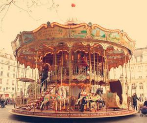 carousel, fun, and vintage image