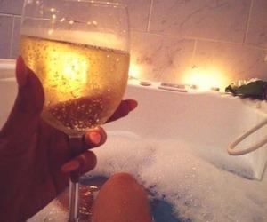 bath, wine, and water image