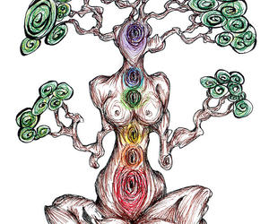 chakras and tree image