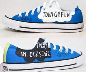 converse, the fault in our stars, and john green image