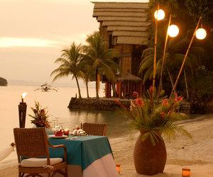 beach, romantic, and sunset image
