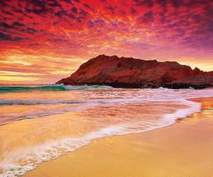 beach, sky, and sand image