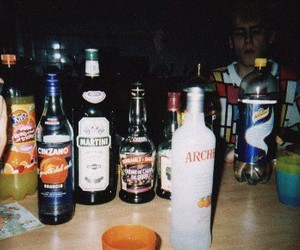 alcohol, bottle, and grunge image