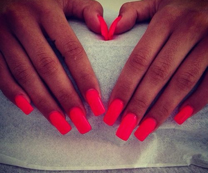 Hot, red, and nails image
