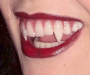 vampire, red, and teeth image