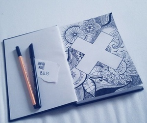 art, drawing, and x image