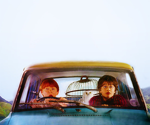car, ron, and ron weasly image