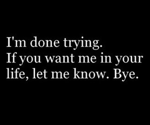 quote, life, and bye image